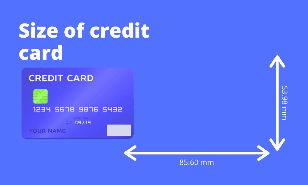 Размер кредитной карты